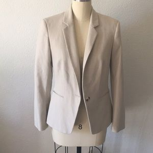Express Beige fitted blazer sz 10